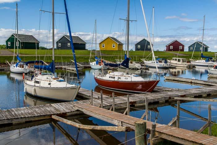 Boats in Northumberland Shore Nova Scotia