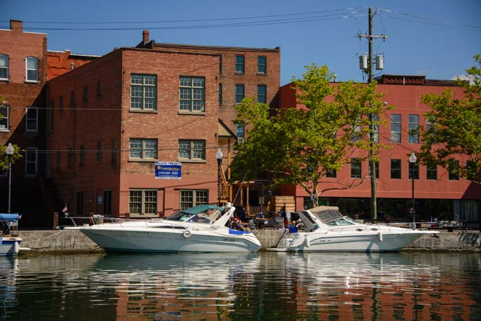 Powerboats in Seneca Falls New York