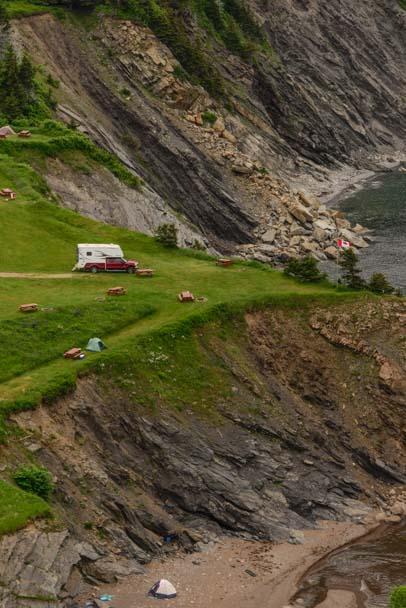 Truck camper RV Cape Breton Island Meat Cove Nova Scotia