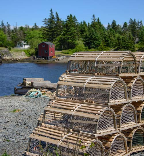 Lobster pots Blue Rocks Nova Scotia