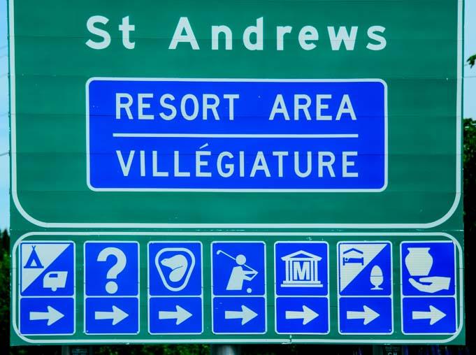 Road sign up close New Brunswick_