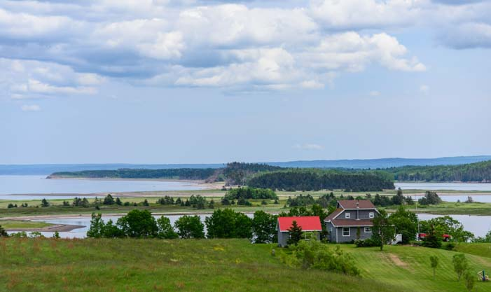 Farmlands in Northumberland Nova Scotia