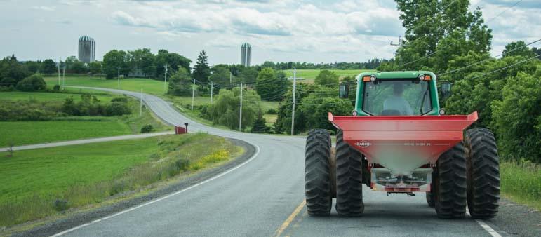 Driving behind a tractor Nova Scotia