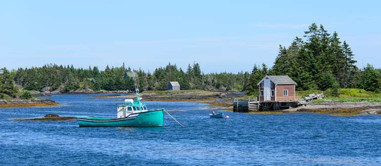 Lobster boat Blue Rocks Nova Scotia Canada