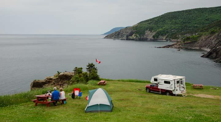 Picnic camping Meat Cove Cape Breton Island Nova Scotia