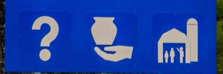International road sign Canada