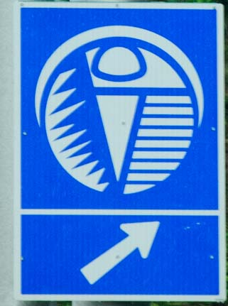 Cuttlefish road sign