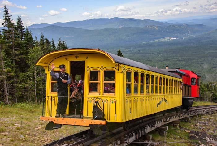 The Cog Railway Mt Washington New Hampshire