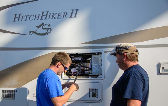 RV extended warranty repair new RV refrigerator installation