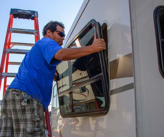 RV extended warranty Removing an RV window from fifth wheel trailer