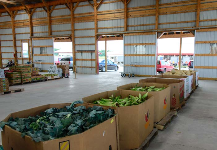 Produce at Seneca Produce Auction Finger Lakes New York