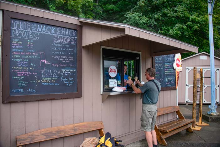 Snack Shack Watkins Glen State Park New York