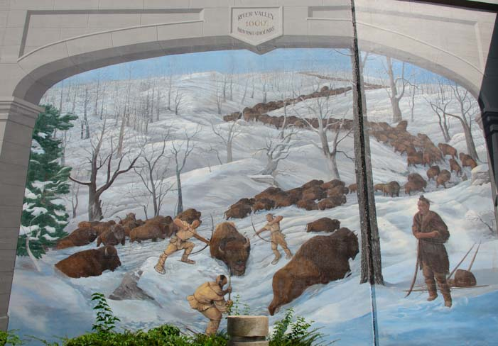 Maysville Kentucky Flood Wall Mural Bufallo Hunt