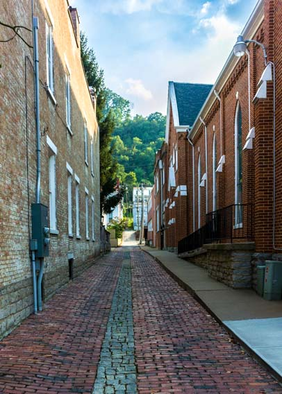 Historic alley Maysville Kentucky