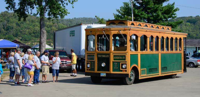 Trolley ride Augusta Kentucky Heritage Days