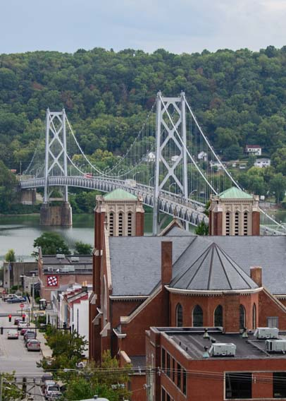 Simon Kenton Bridge and St Patrick's Cathedral Maysville KY