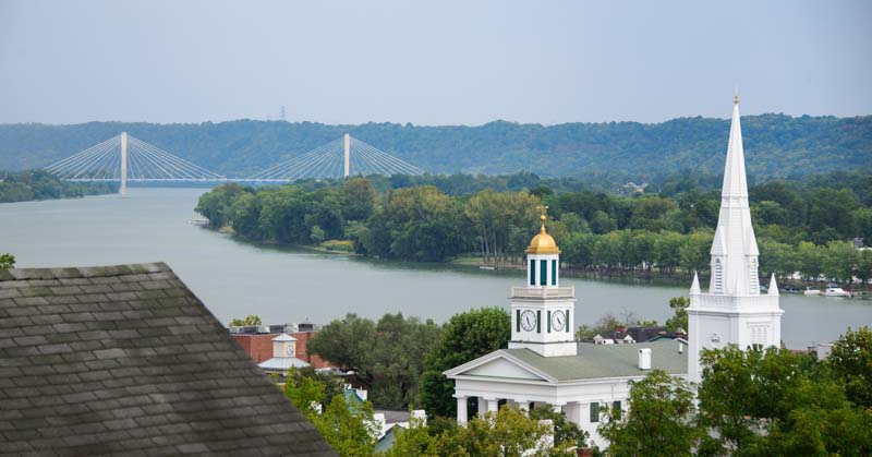 William Harsha Bridge and Maysville Kentucky church steeples