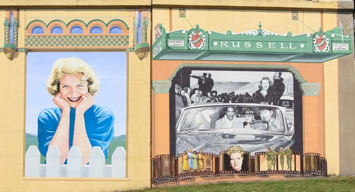 Rosemary Clooney Flood Wall Mural Painting Maysville KY