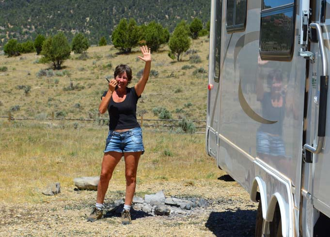 Two-way radios for backing up an RV