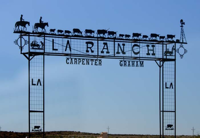 Carpenter Graham LA Ranch metal art sign New Mexico