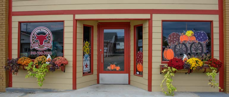 Welch Oklahoma storefront for Fall Harvest Days