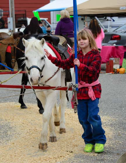 Pony ride Welch OK Fall Harvest Days