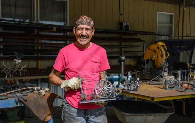 Juan Manuel Carbajal metal artist Tatum New Mexico