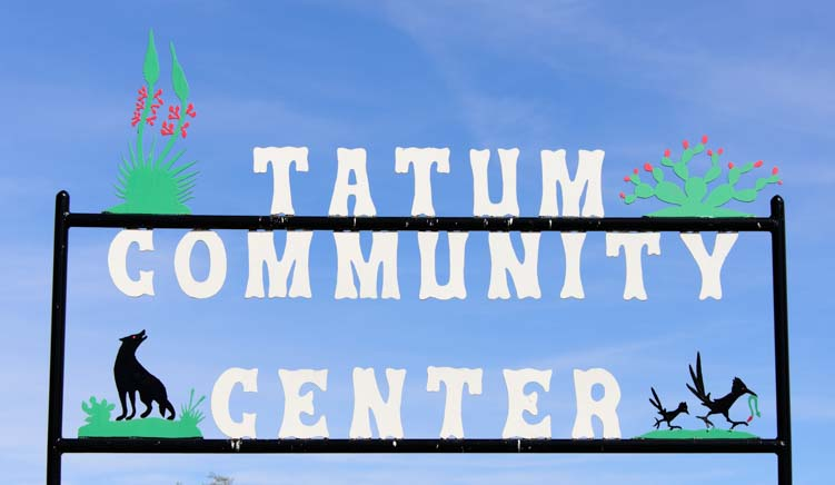 Tatum Community Center Metal Art sign Tatum New Mexico
