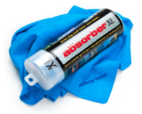 Absorber XL towel wipe away condensation