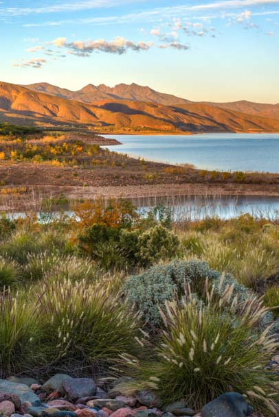 Roosevelt Lake autumn color Arizona