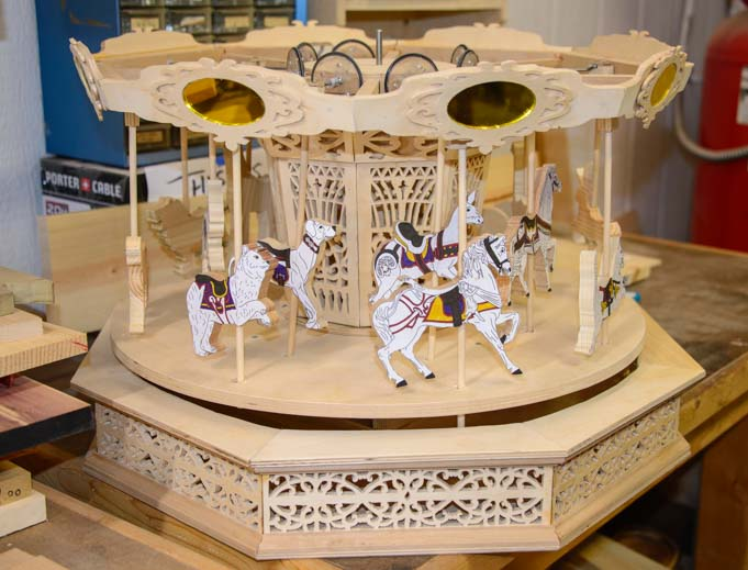 Carousel made in Wood shop