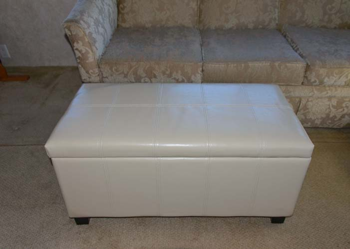 Simpli Home Furnishings rectangular storage ottoman