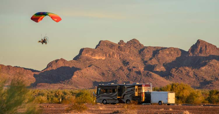 RV boondocking Quartzsite Arizona