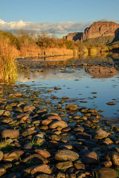 Pebble Beach Bush Highway Mesa Arizona Salt River