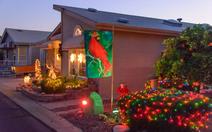 Christmas lights ViewPoint RV & Golf Resort Arizona