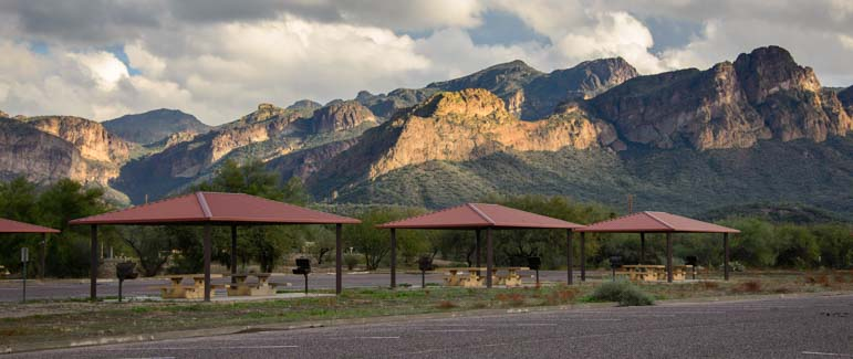 Pebble Beach Camping Area Tonto National Forest Closed