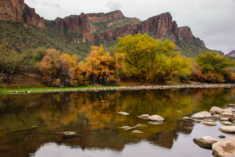 Salt RIver Arizona in Autumn