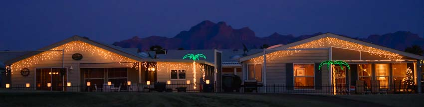 Christmas ViewPoint RV & Golf Resort Superstition Mountains Arizona