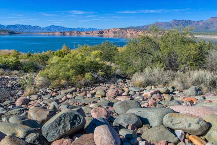 Roosevelt Lake Arizona pebble beach