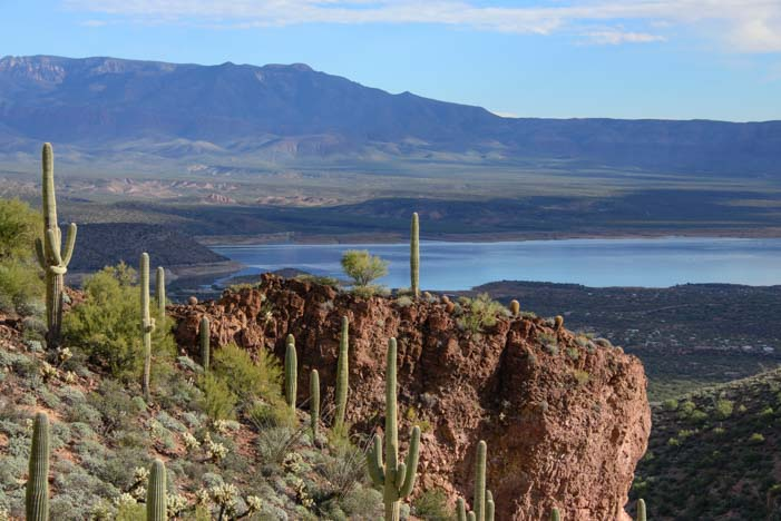 Tonto National Monument view of Roosevelt Lake Arizona
