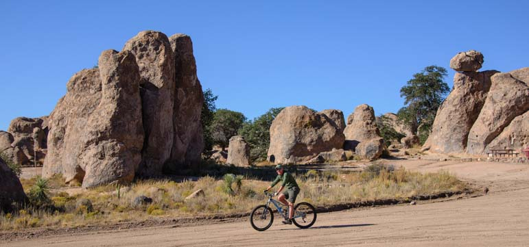 Mountain bike ride City of Rocks New Mexico