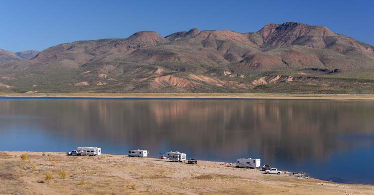 RV boondocking Roosevelt Lake Arizona