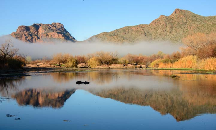 Fog Arizona Salt River