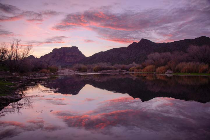 Sunset Arizona Salt River
