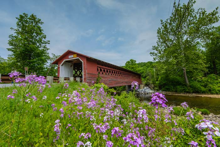 Covered Bridge Bennington Vermont RV travel