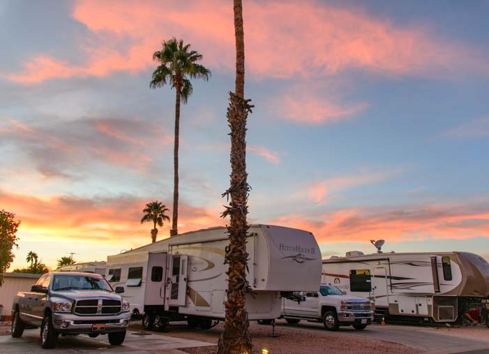 Monte Vista Village RV Resort Campsites