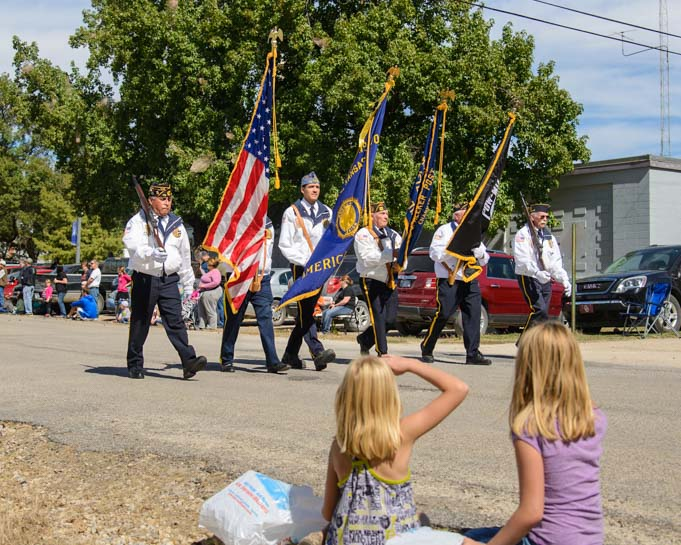 Kids at Biblesta Parade Humboldt Kansas RV travel adventures