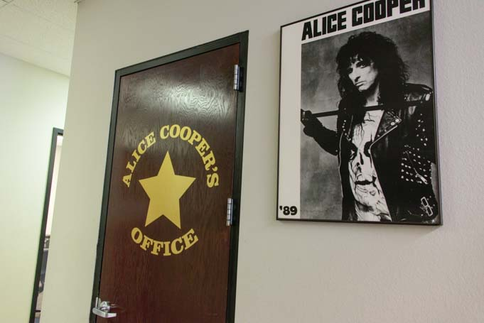 Alice Cooper's Office at Airpark Dodge Scottsdale Arizona