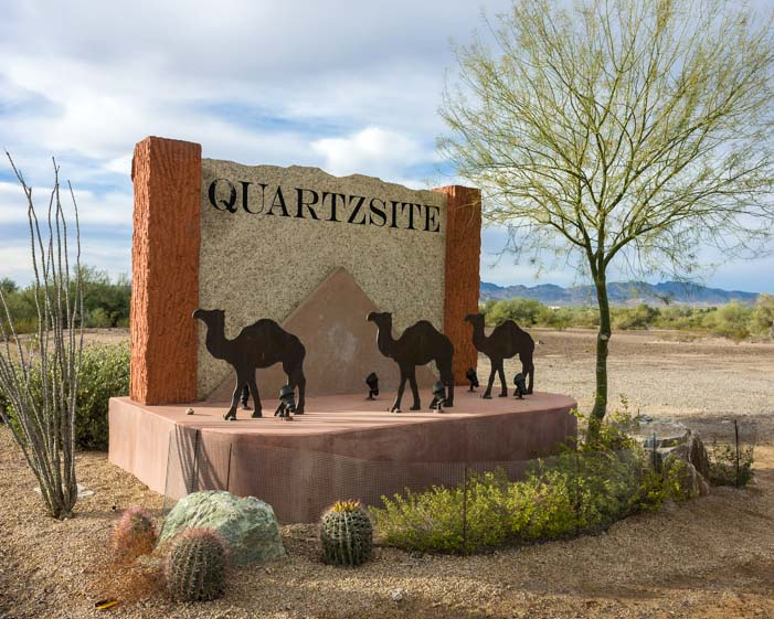 Quartzsite Arizona camel sign