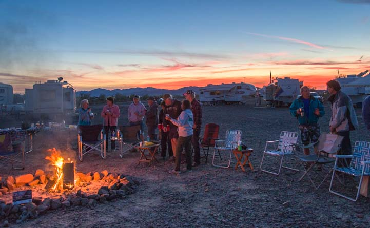 Quartzsite Hitchhiker RV gathering Arizona